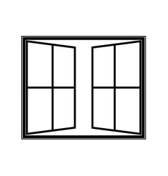 open window icon vector image vector image