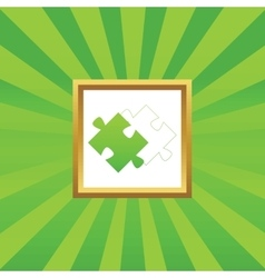 Puzzle place picture icon vector image vector image