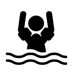 Swim water sleeve protectors information flat vector