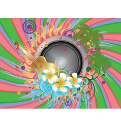 Tropical music party vector image vector image