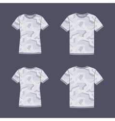 White short sleeve t-shirts templates with the vector image vector image