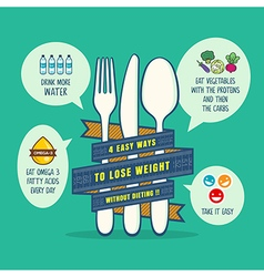 Tips for losing weight concept vector