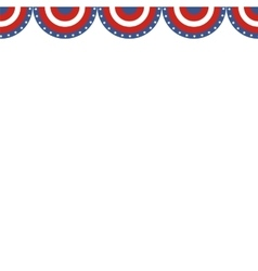 Usa patriotic buntings flag seamles us round vector