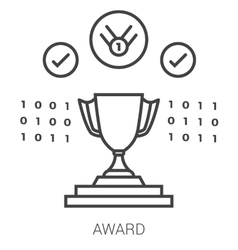 Award line infographic vector