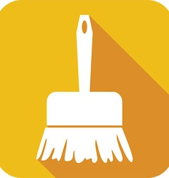 Sweeping brush icon vector