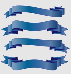 Blue ribbons vector
