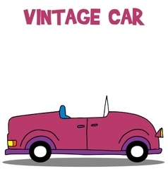 Collection of vintage car vector