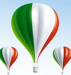 Hot balloons painted as italian flag vector