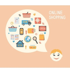 Online shopping innovation idea vector