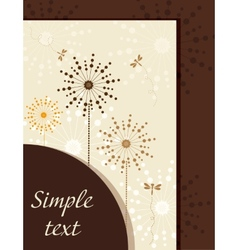 Flower booklet with dandelions vector
