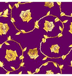 gold-purple seamless rose sari pattern vector image