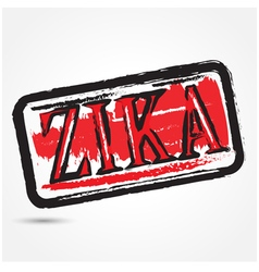 Zika virus grunge rubber stamp vector