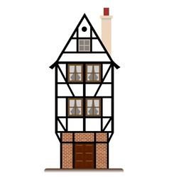 Fachwerk house traditional cottage isolated vector