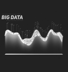 Abstract grayscale big data vector