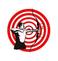 Archer bow arrow target vector