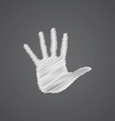 arm sketch logo doodle icon vector image