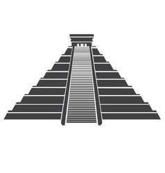aztec pyramid icon isolated on whit mayan vector image vector image