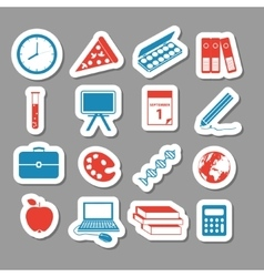 Back to school stickers vector