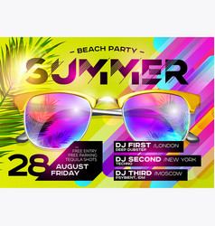 Beach party poster for music festival vector