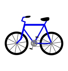Bicycle Icon Isolated on White Background vector image vector image