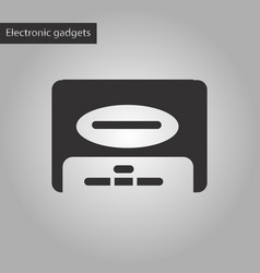 black and white style icon removable hard drive vector image vector image