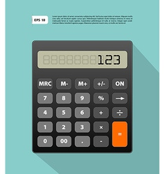 Calculator image vector image vector image