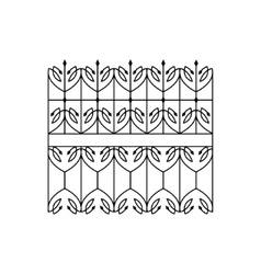Classic curled lattice fencing design vector