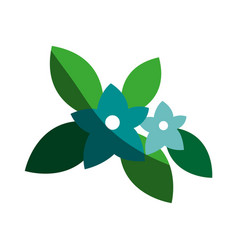 Cute simple flower icon image vector