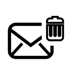 Delete email setup isolated icon design vector