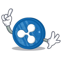 Finger ripple coin character cartoon vector