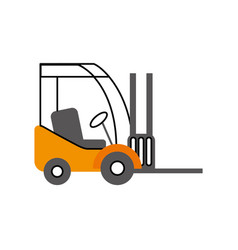 Forklift delivery truck cargo vehicle vector