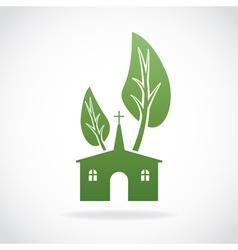 Growing church icon vector