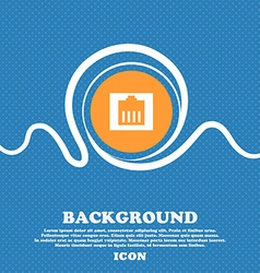 Internet cable rj-45 icon sign blue and white vector