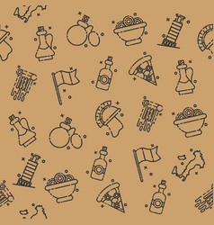 italy icons design pattern vector image