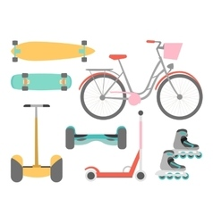 Means of transport icons set vector image