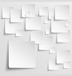 Paper squares abstract background vector image vector image
