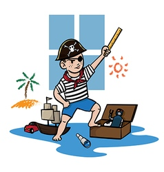 Pirate kid vector
