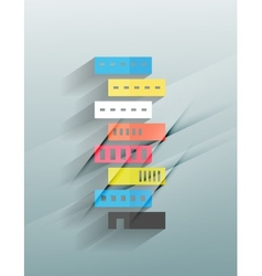 Skyscraper 3d paper design vector image