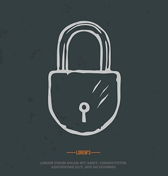 T-shirt graphic padlock grunge on separate layer vector