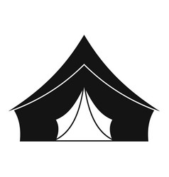 Tent with a triangular roof icon simple style vector