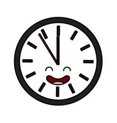 Time clock kawaii character vector