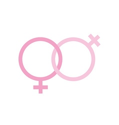 Two females gender signs sexual symbols valentines vector