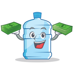 With money gallon character cartoon style vector