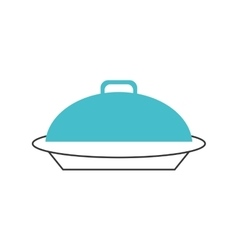 Elegant food tray icon vector