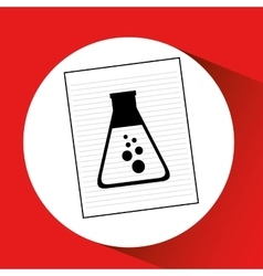 Research chemical flask laboratory drawing icon vector