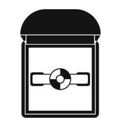 Ring in a velvet box icon simple style vector