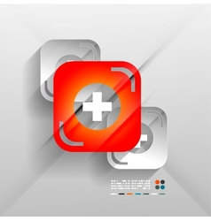 First aid modern 3d paper design vector