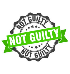 Not guilty stamp sign seal vector