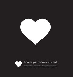 Isolated love icon amour element can be vector