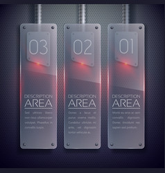 Business glass vertical banners vector